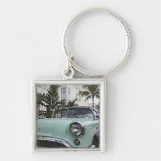 USA, Florida, Miami Beach: South Beach, 1956 3 Silver-Colored Square Keychain