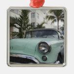 USA, Florida, Miami Beach: South Beach, 1956 3 Square Metal Christmas Ornament
