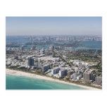 USA, Florida, Miami, Cityscape with beach 3 Postcard