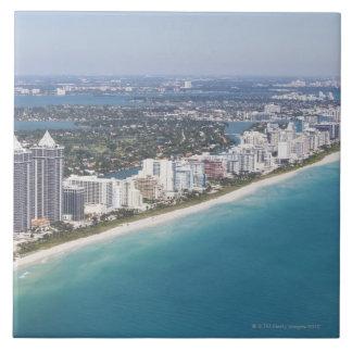 USA, Florida, Miami, Cityscape with beach Ceramic Tile