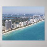 USA, Florida, Miami, Cityscape with beach Print