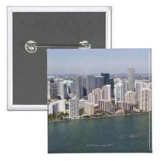 USA, Florida, Miami, Cityscape with coastline 2 Button