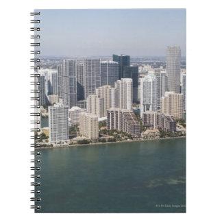 USA, Florida, Miami, Cityscape with coastline 2 Notebook