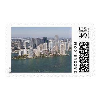 USA, Florida, Miami, Cityscape with coastline 2 Postage Stamp