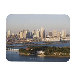 USA, Florida, Miami, Cityscape with coastline Rectangular Photo Magnet