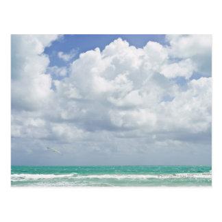 USA, Florida, Miami, Landscape with sea Postcard