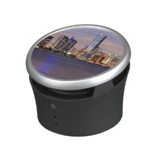 USA, Florida, Miami skyline at dusk 2 Bluetooth Speaker
