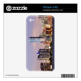 USA, Florida, Miami skyline at dusk 2 Decals For iPhone 4S
