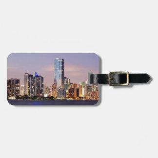 USA, Florida, Miami skyline at dusk 2 Luggage Tag