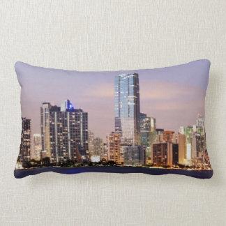 USA, Florida, Miami skyline at dusk 2 Pillow