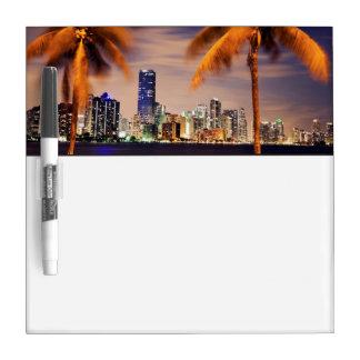 USA, Florida, Miami skyline at dusk Dry Erase Board