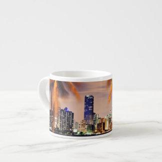 USA, Florida, Miami skyline at dusk Espresso Cup