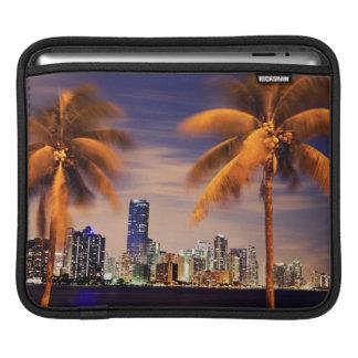 USA, Florida, Miami skyline at dusk iPad Sleeves