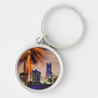 USA, Florida, Miami skyline at dusk Keychain