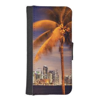 USA, Florida, Miami skyline at dusk Phone Wallets
