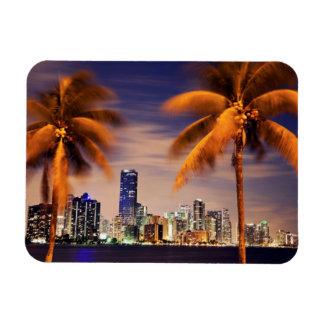 USA, Florida, Miami skyline at dusk Rectangular Photo Magnet