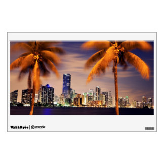 USA, Florida, Miami skyline at dusk Wall Sticker