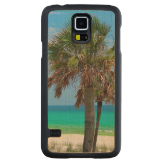 USA, Florida. Palm Trees On Emerald Coast Carved® Maple Galaxy S5 Slim Case