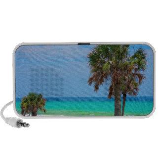 USA, Florida. Palm Trees On Emerald Coast Portable Speaker