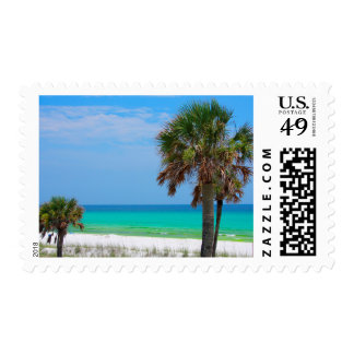 USA, Florida. Palm Trees On Emerald Coast Postage
