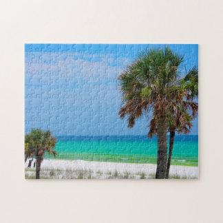 USA, Florida. Palm Trees On Emerald Coast Puzzle