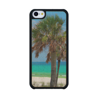 USA, Florida. Palm Trees On Emerald Coast Carved® Maple iPhone 5C Case