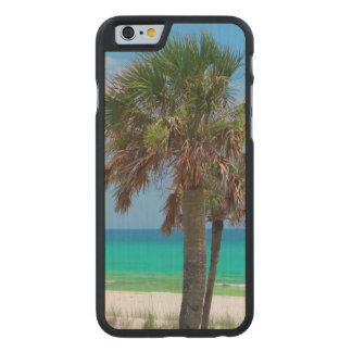 USA, Florida. Palm Trees On Emerald Coast Carved® Maple iPhone 6 Slim Case