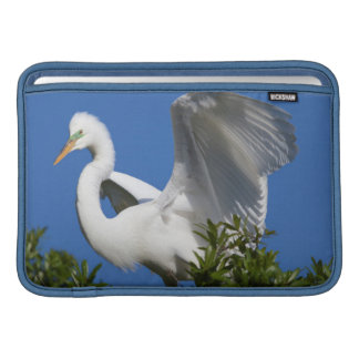 USA, Florida, St. Augustine, Egret Sleeve For MacBook Air