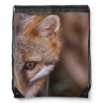 USA, Florida, Swamp Fox Drawstring Backpack