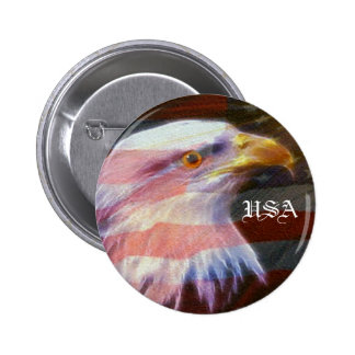 USA  / Fly With The Eagles Button