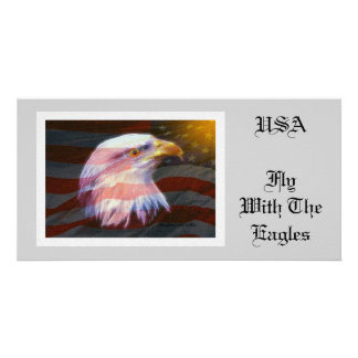 USA  / Fly With The Eagles Card
