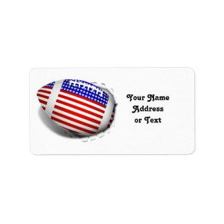 USA Football (1) Tear Away Label