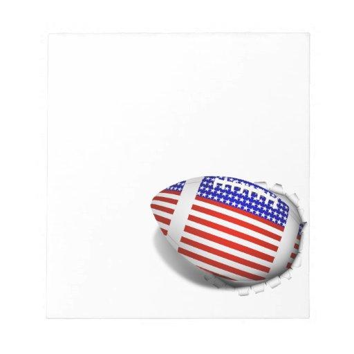 USA Football (1) Tear Away Memo Note Pads