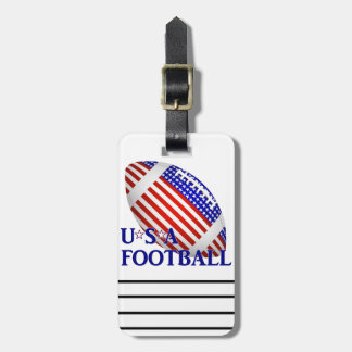 USA Football (1) With Text Tag For Luggage