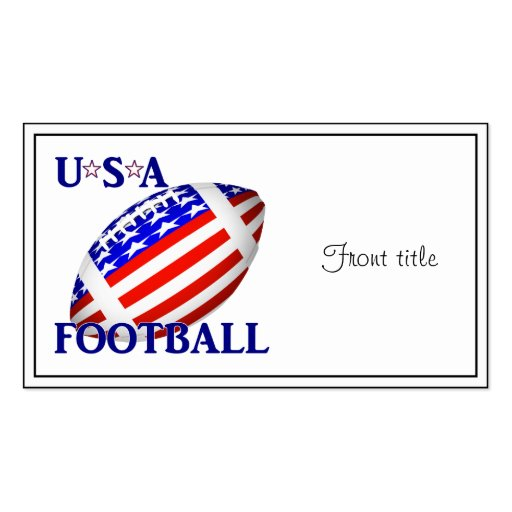 USA Football (2) With Text Business Card