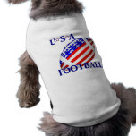 USA Football (2) With Text Doggie Shirt