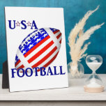 USA Football (2) With Text Photo Plaques