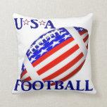 USA Football (2) With Text Pillow