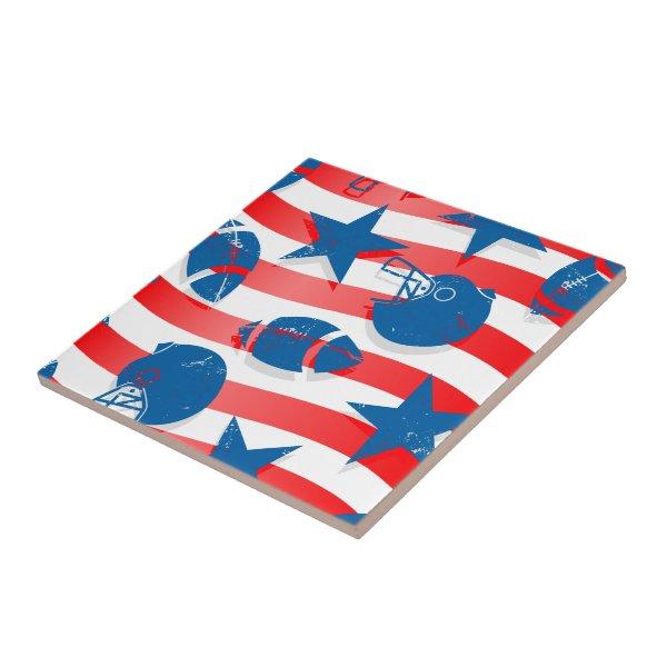 USA football Ceramic Tile