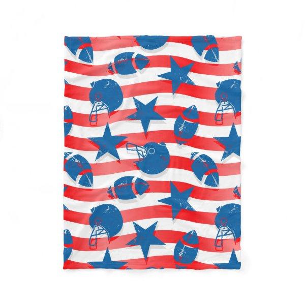 USA football Fleece Blanket