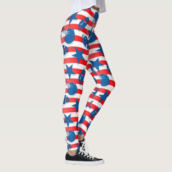 USA football Leggings
