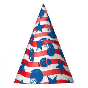 USA Themed USA football Party Hat