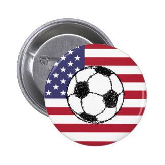 USA football Pinback Button