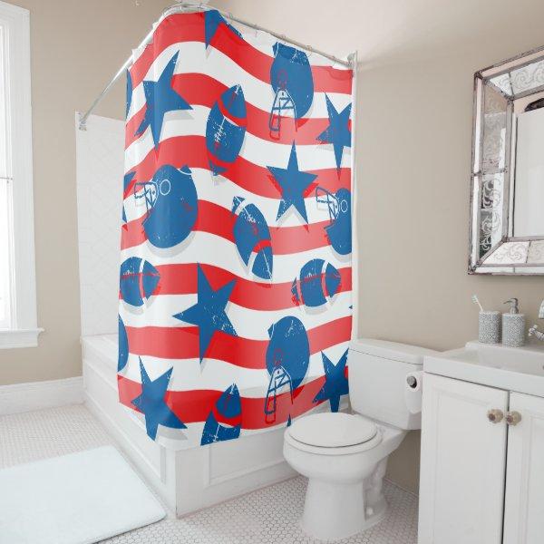 USA football Shower Curtain