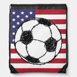 USA Football Sketch Drawstring Bag