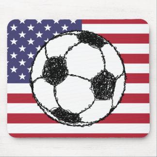 USA Football Sketch Mouse Pad