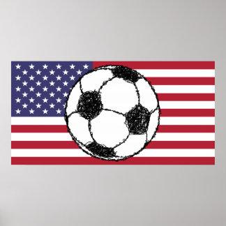 USA Football Sketch Poster