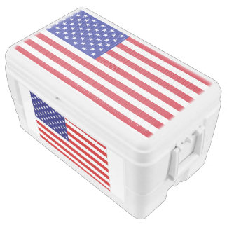 USA Freedom Flag Duo Deco 48 Quart Cooler