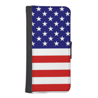 USA Freedom Flag iPhone 5/5s Wallet Case iPhone 5 Wallet