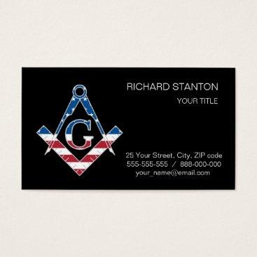USA Themed USA Freemasonic symbol Business Card